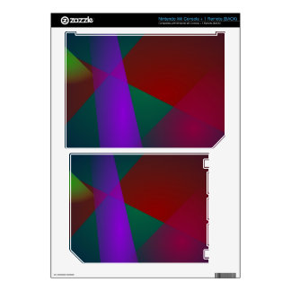 Dark Geometric Abstract Design Decal For Wii