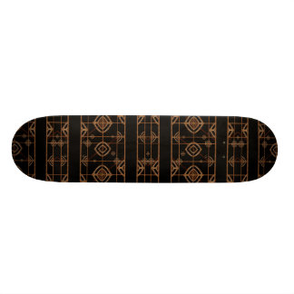 Dark Geometric Abstract Pattern Skateboard Deck