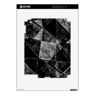 Dark Geometric Grunge Pattern Print Decal For The iPad 2