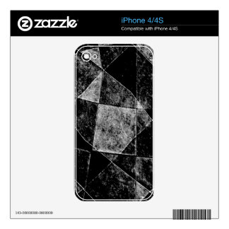 Dark Geometric Grunge Pattern Print Decals For The iPhone 4S