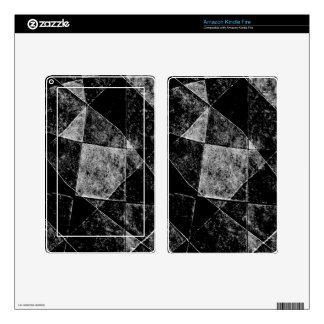 Dark Geometric Grunge Pattern Print Kindle Fire Decal