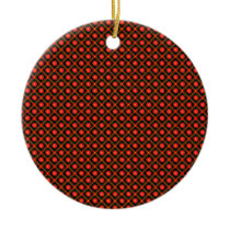 Dark geometric pattern ceramic ornament