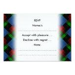Dark Geometric Pattern. 3.5x5 Paper Invitation Card