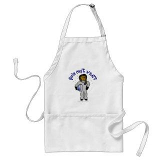 Dark Girl Astronaut Adult Apron
