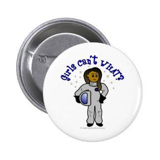 Dark Girl Astronaut Button