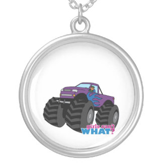 Dark Girl Driving Purple Monster Truck Pendant