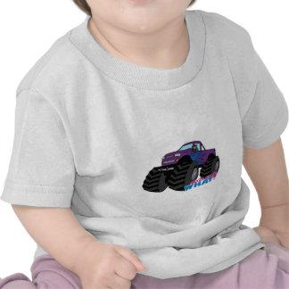 Dark Girl Driving Purple Monster Truck Shirt