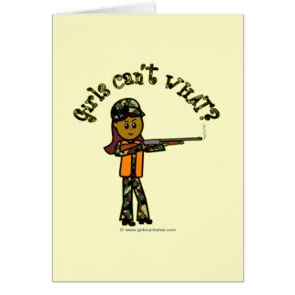 Dark Girl Hunting Greeting Card