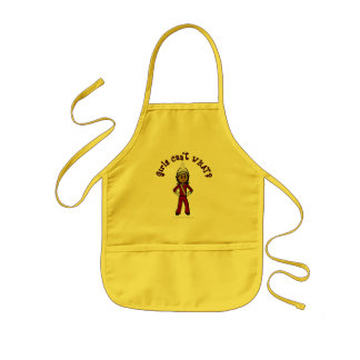 Dark Girl in Red Marching Band Uniform Kids' Apron