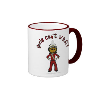 Dark Girl in Red Marching Band Uniform Ringer Coffee Mug