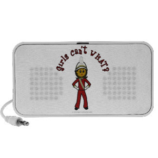 Dark Girl in Red Marching Band Uniform Notebook Speakers