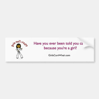 Dark Girl Martial Artist Bumper Sticker