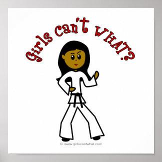 Dark Girl Martial Artist Posters