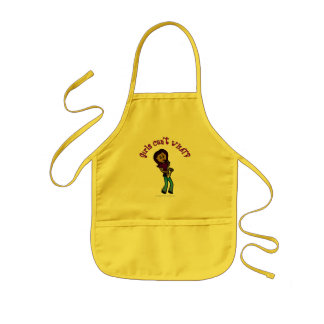 Dark Girl Playing Saxophone Kids' Apron