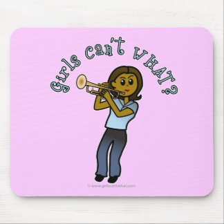 Dark Girl Playing Trumpet Mouse Pad