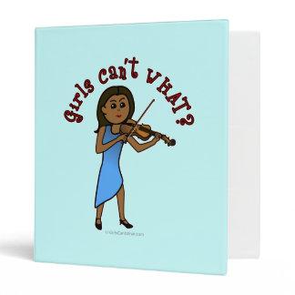 Dark Girl Playing Violin Vinyl Binders