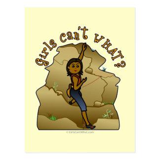 Dark Girl Rock Climber Post Card
