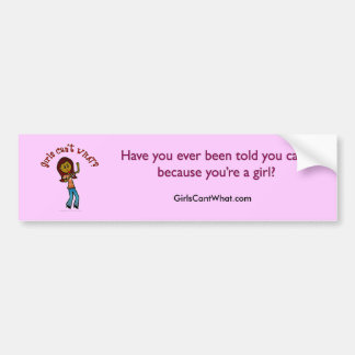 Dark Girl Singer Bumper Sticker