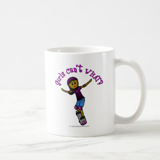 Dark Girl Skater with Helmet Classic White Coffee Mug