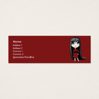 Dark Girl - Skinny Mini Business Card