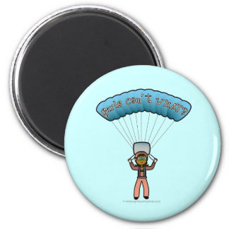 Dark Girl Sky Diver 2 Inch Round Magnet