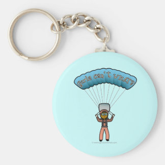 Dark Girl Sky Diver Basic Round Button Keychain