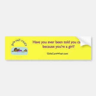 Dark Girl Swimming Car Bumper Sticker