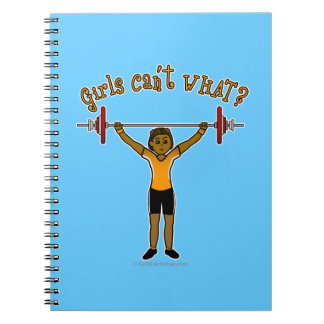 Dark Girl Weightlifting Notebook