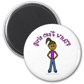 Dark Girls Can't WHAT? Logo 2 Inch Round Magnet