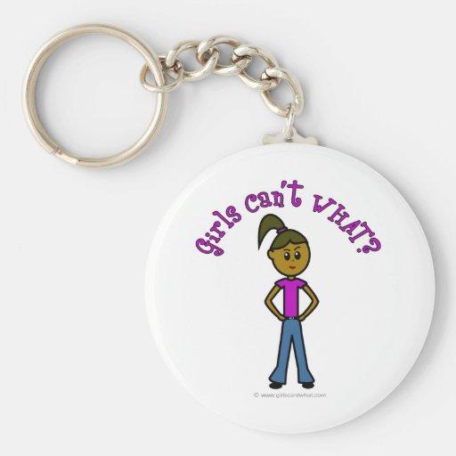 Dark Girls Can't WHAT? Logo Basic Round Button Keychain