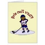 Dark Girls Hockey Player Cards