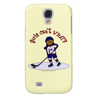 Dark Girls Hockey Player Samsung Galaxy S4 Case