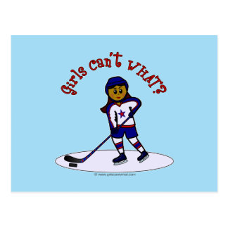 Dark Girls Hockey Player Postcard