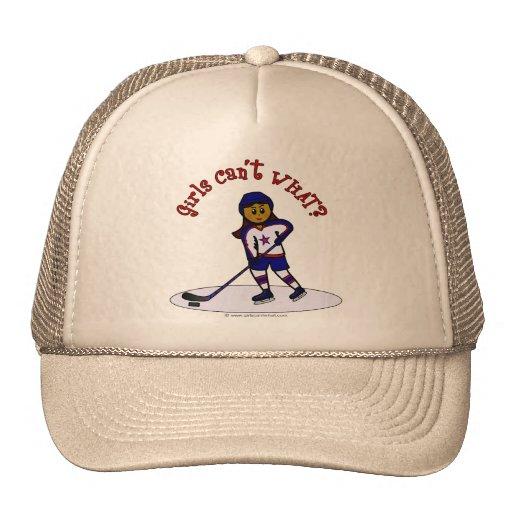 Dark Girls Hockey Player Trucker Hats