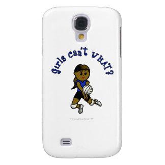 Dark Girls Volleyball in Blue Uniform Samsung S4 Case