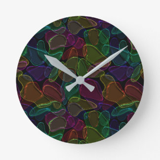 Dark Glass Round Clock