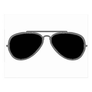 Dark glasses postcard