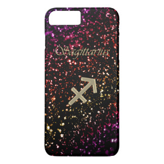 Dark Glitter Zodiac Sagittarius iPhone 7 Plus Case