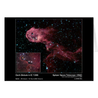 Dark Globule in IC 1396 – Spitzer Space Telescope  Card