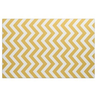 Dark Gold and White Chevron Stripe Fabric