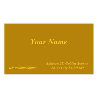 dark gold business card