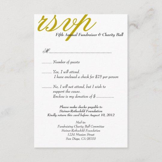 dark gold gala formal event elegant rsvp response zazzle com