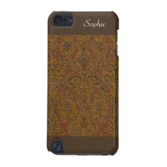 Dark Gold Victorian Floral Ipod Touch 5g Ipod Touch 5g Case at Zazzle
