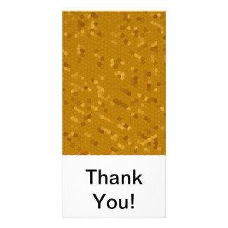 Dark Golden Mosaic Personalized Photo Card