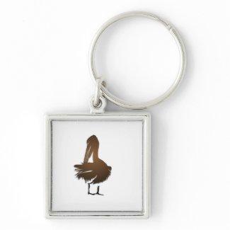 Dark Golden Pelican Keychains