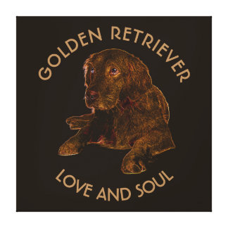 Dark Golden Retriever Dog Canvas Print