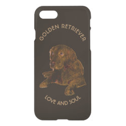 Uncommon iPhone 7 Clearly™ Deflector Case with Golden Retriever Phone Cases design