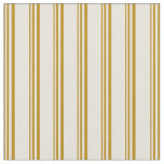 [ Thumbnail: Dark Goldenrod and Beige Stripes Pattern Fabric ]