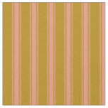 [ Thumbnail: Dark Goldenrod and Dark Salmon Colored Pattern Fabric ]
