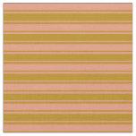 [ Thumbnail: Dark Goldenrod and Dark Salmon Lines Fabric ]